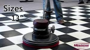 Pad Holder For Floor Buffer by Minuteman Front Runner Floor Buffer Floor Care Equipment From