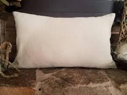 Lumbar Decorative Pillows Lumbar Pillow Cover Natural Linen Pillow Lumbar Throw Pillows