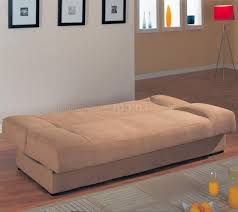 convertible sofa modern microfiber convertible sofa bed 500781 tan