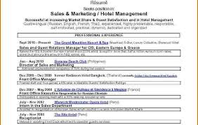 curriculum vitae sle pdf philippines islands resume dreadedl exle sle hotel sales manager two by ancestral