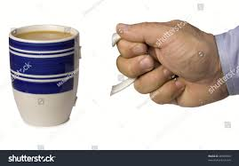mans hand holding handle coffee mug stock photo 48569803