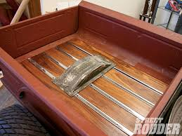 wooden truck bed wood for rod trucks rod network