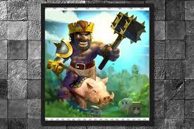 clash of clans hog rider hogorian king hog rider clash of clans art print video game