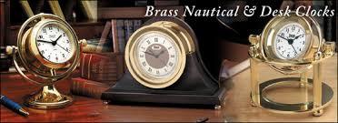 Nautical Desk Clock Clocks Brass Clocks Vintage Antique Clocks Brass Gallery