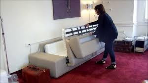 modern sofa beds a designer sofa bed with extra wide armrests