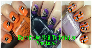cute spiders n webs halloween nail polish designs youtube