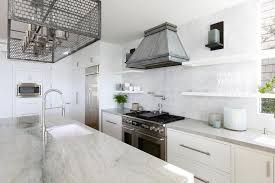 French Kitchen Sinks by White French Kitchen Hood With Stacked Floating Shelves