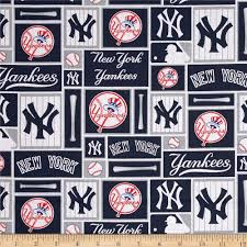 mlb cotton broadcloth new york yankees blue white discount