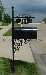 tuscumbia iron works mailbox post metal work for the home