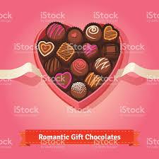 valentines day birthday chocolates in box stock vector art