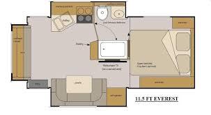 Everest Rv Floor Plans | host rv everest 11 5 floor plan attractive everest rv floor plans