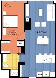 Floor Plans Chicago One Bedroom Floor Plans Optima Chicago Center