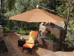 11 Parasol Cantilever Umbrella Sunbrella Fabric by Treasure Garden Cantilever Aluminum 11 U0027 Foot Wide Crank Lift Tilt
