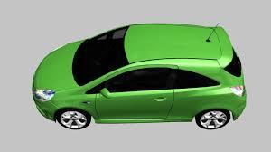 vauxhall green vauxhall corsa vxr 2009 3d model cgtrader