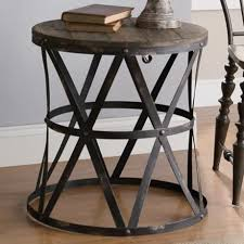 round metal side table appealing round metal accent table best ideas about round side table