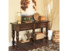 Ashley Furniture Round Dining Table Furniture Ashley Furniture Porter Collection Uses A Deep Finish