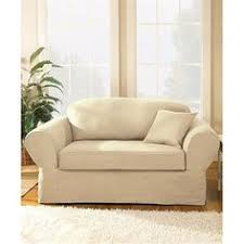Two Piece Sofa by Sure Fit Twill Supreme 2 Piece Sofa Slipcover Overstock Com