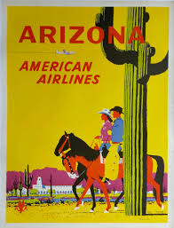 Arizona travel posters images Original vintage travel poster american airlines arizona fred jpg