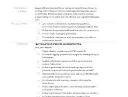 heavy equipment operator resume rainforest homework ideas example