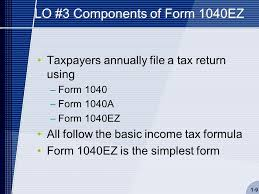 2014 Tax Tables 1040ez Chapter 01 Introduction To Taxation The Income Tax Formula And