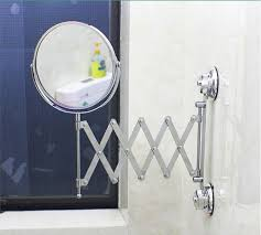 Suction Bathroom Mirror Suction Up Wall Mounted Telescoping Folding Two Side 3x