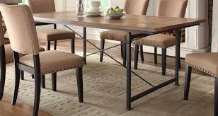 homelegance derry dining table rustic oak 2555 84