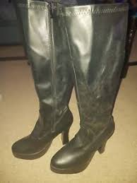 s gogo boots size 11 black gogo boots womens retro knee high platform boots size 11