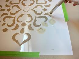 stencils for home decor how to stencil a focal wall hgtv