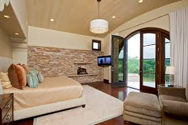 stone accent wall idea feat gorgeous master bedroom with corner tv stone accent wall idea feat gorgeous master bedroom with corner tv also big arched exterior door