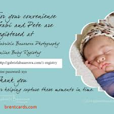 baby registry cards baby shower gift registry invitation wording free card design ideas