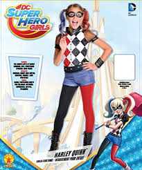 Harley Quinn Halloween Costume Kids Amazon Rubie U0027s Dc Superhero U0027s Harley Quinn Costume