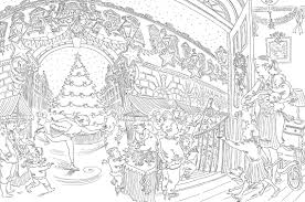 holiday coloring pages nightmare before christmas coloring pages
