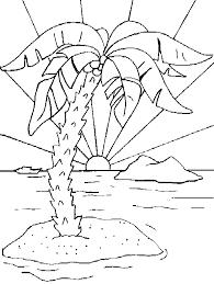 dessins de ile déserte à colorier