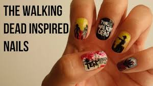 the walking dead inspired nails prettyinpolishnails youtube