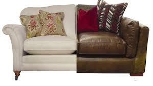 Leather Cloth Sofa Leather Vs Cloth Sofas Www Energywarden Net