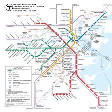 map of boston subway official map mbta rapid transit key routes transit maps