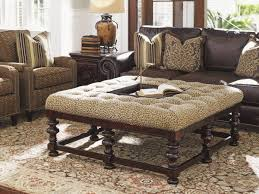 brown leather tufted ottoman ecoel paso