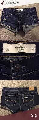 abercrombie fitch distressed denim shorts distressed denim