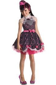 Vampire Costumes For Kids Deluxe Monster High Wig Girls Halloween Fancy Dress Kids Tv