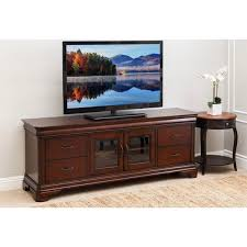 abbyson nottingham 72 inch cherry wood tv stand free shipping