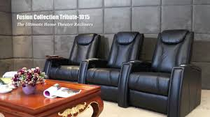 home theater recliners fusion collection tribute 1015 home theater seating youtube