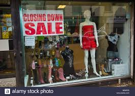 closing down sale at womens clothes shop in aberdare south wales
