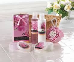 Bathroom Gift Basket Ideas Low Clearance Outlet Peony Vanilla Spa Set