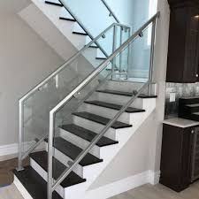 Glass Handrails For Stairs Custom Made To Order Ornamental Metal Railings And Enclosures