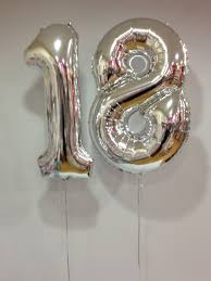 balloons for 18th birthday large silver 18 number balloons 18th birthday special birthdays
