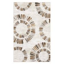 Neutral Area Rugs Darren Medallion Neutral 7 Ft 6 In X 10 Ft Area Rug 561208