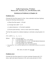 traffic engineering chapter 14 solutions documents