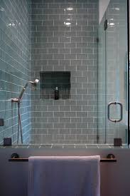 Subway Tiles Bathroom White Glass Tile Soap Suds White Circles Glass And Stone Tile
