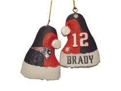 tom brady patriots santa hat ornament sports outdoors