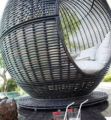 the igloo apple is an amazing outdoor wicker daybed